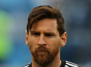 Lionel Messi con la nazionale argentina al campionato del mondo 2018