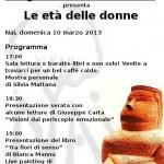 """""""Progettiamo il domani"""" presenta Le età delle donne, domenica 10 marzo, Cagliari"""