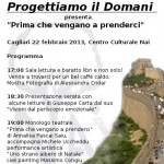 """""""Progettiamo il domani"""" presenterà il monologo Prima che vengano a prenderci, 22 febbraio, Cagliari"""