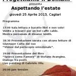 """Progettiamo il domani presenta """"Aspettando l'estate"""", giovedì 25 aprile, Cagliari"""