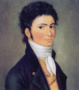 Ludwig van Beethoven - Painting by Carl Traugott Riedel, 1801