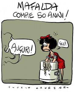 Compie 50 Anni Il Celebre Fumetto Mafalda Nato Dalla Matita Di