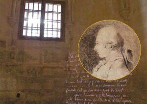 Marchese de Sade - Cella in cui fu imprigionato nel Castello di Vincennes