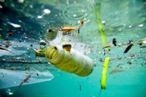 Mare inquinato da plastica gettata dall'uomo