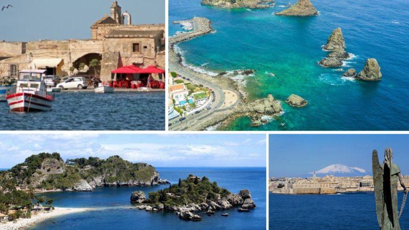 Carta di Navigare di Gerolamo Azurri #15: la costa orientale della Sicilia, nel portolano della metà del 1500