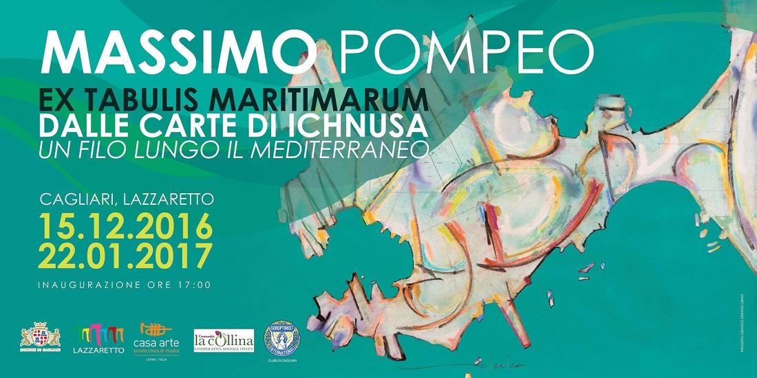 """""""Massimo Pompeo – Ex Tabulis Maritimarum Dalle Carte di Ichnusa"""", sino al 22 gennaio 2017, Lazzaretto, Cagliari"""