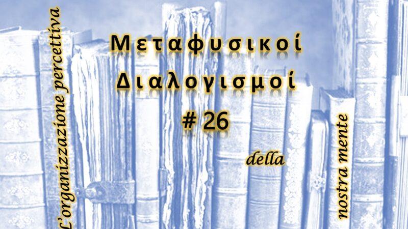 Meditazioni Metafisiche #26: l'organizzazione percettiva della nostra mente