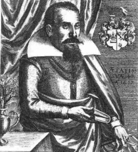 Michael Maier nel 1617 - Painting by Matthäus Merian