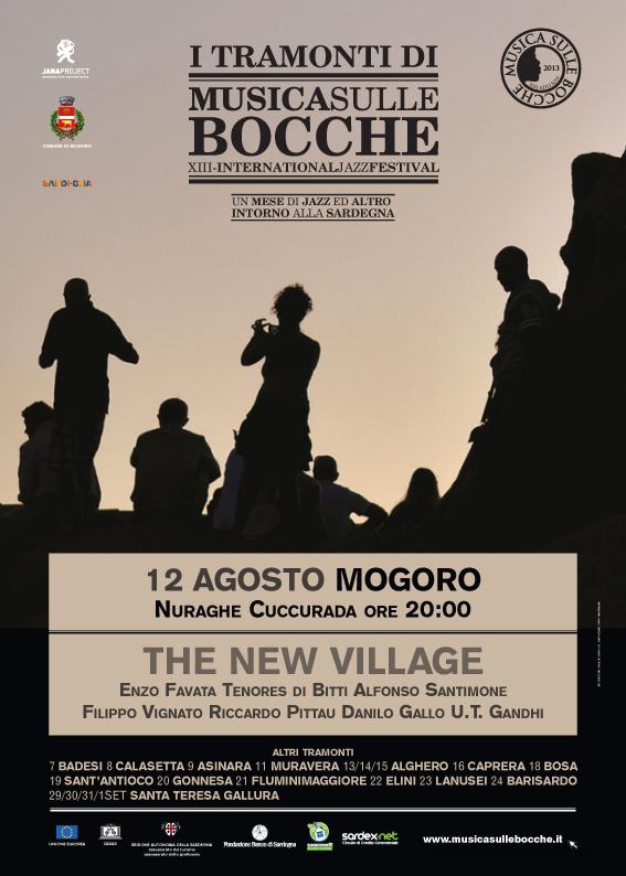 """The New Village live al Nuraghe Cuccurada per """"Tramonti di Musica"""", 12 agosto, Mogoro"""