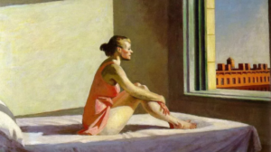 Morning sun di Edward Hopper - 1952