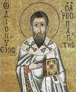 Mosaico di san Dionigi all'interno del monastero di Ossios Loukas