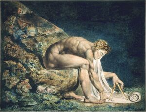 Newton - Painting by William Blake - 1795