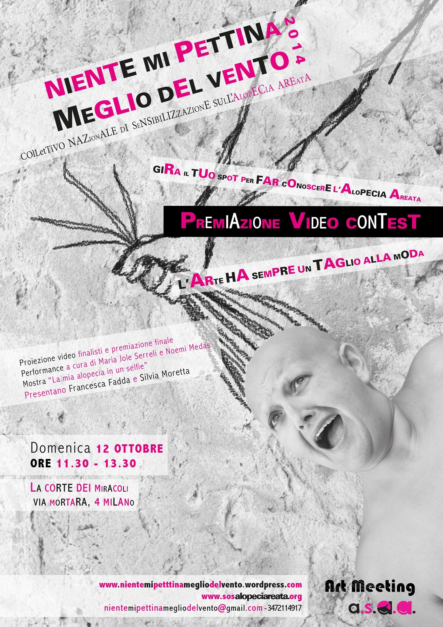 """Le premiazioni del Contest """"Niente mi pettina meglio del vento 2014"""", domenica 12 ottobre, Milano"""