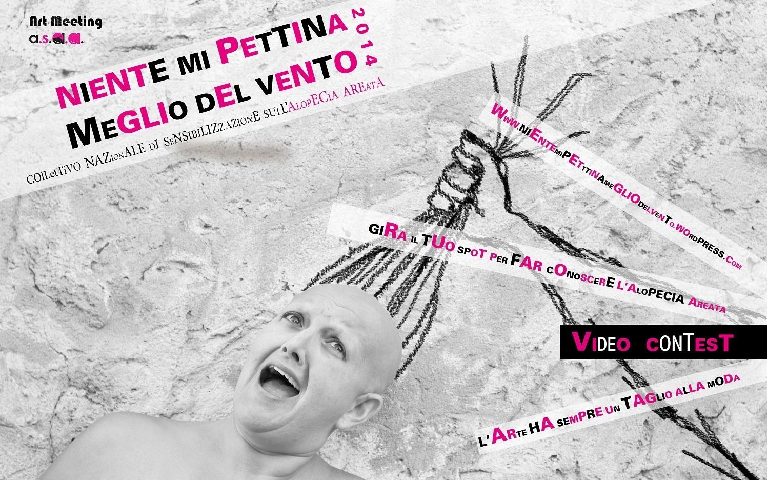 """Contest """"Niente mi pettina meglio del vento 2014"""": gira il tuo spot per far conoscere l'Alopecia Areata"""