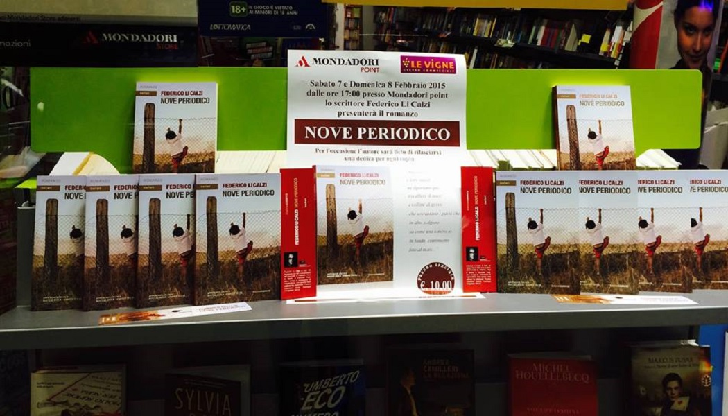 """Doppia presentazione per """"Nove Periodico"""", il primo romanzo di Federico Li Calzi, 7 ed 8 febbraio a Castrofilippo (AG)"""