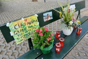 Panchina di Piazza Umbria a Torino - in ricordo di Andrea Soldi
