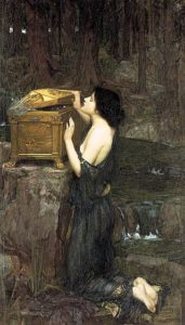 Pandora - Painting by John William Waterhouse