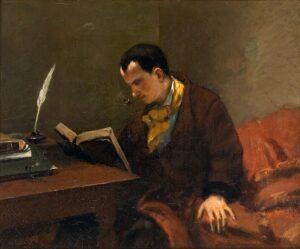 Portait de Baudelaire - Painting by Gustave Courbet - 1849