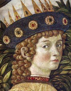 Presunto ritratto di Lorenzo de' Medici da giovane - Painting by Benozzo Gozzoli