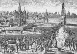 Processione della Domenica delle Palme - Stampa olandese, XVII secolo