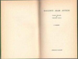 Racconti arabi antichi - Virginia Vacca