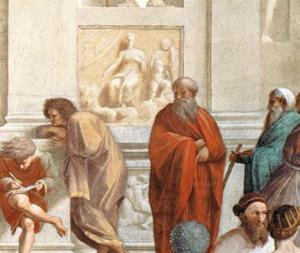Raffaello - La scuola di Atene - dettaglio Plotino
