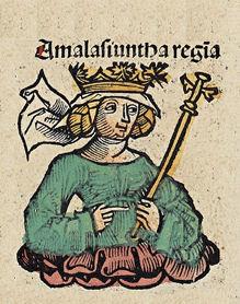 Regina Amalasunta - da un codice medioevale Nuremberg chronicles