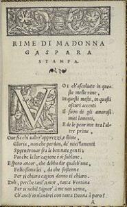 Rime di Madonna Gaspara Stampa - 1554
