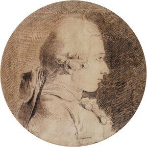 Ritratto di D.A.F. de Sade a circa 20 anni di età, opera di Charles Amédée Philippe van Loo
