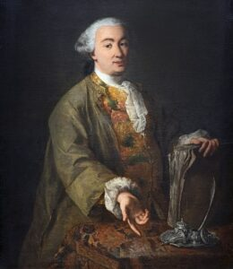 Ritratto di Carlo Goldoni - painting by Alessandro Longhi - 1757