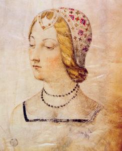 Ritratto di Laura, in un disegno conservato presso la Biblioteca Medicea Laurenziana