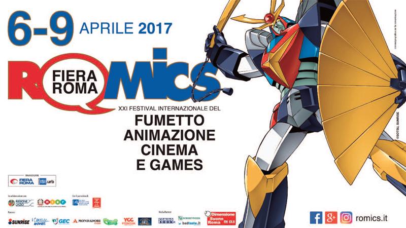 """""""Romics 2017"""": fumetto, animazione, games e tanto altro, dal 6 al 9 aprile, Roma"""