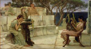 Saffo e Alceo a Mitilene - Painting by Lawrence Alma-Tadema (1881)