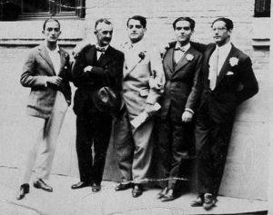 Salvador Dalí, José Moreno Villa, Luis Buñuel, Federico García Lorca y José Antonio Rubio Sacristán, Madrid -1926
