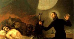 San Francesco Borgia assiste un moribondo impenitente - Francisco Goya