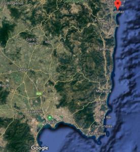 Sardegna orientale - Fonte Google Maps
