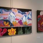 """""""Artefatti"""" di Sonia Strukul: tanti piccoli Swarovski su tela in mostra dal 30 ottobre all' 8 dicembre 2014, Padova"""