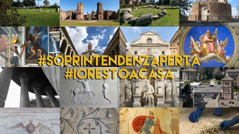 Soprintendenza Speciale di Roma: la cultura non si ferma perché il contagio di bellezza e storia non avrà mai fine