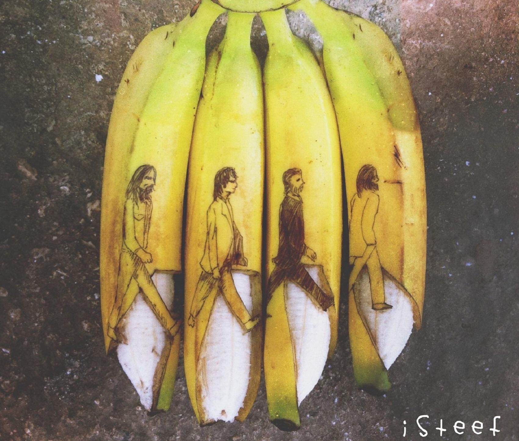 Stephan Brusche e le sue bucce di banana che diventano opere d'arte