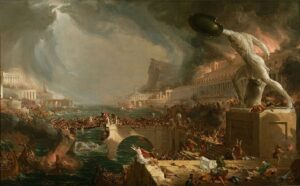 The Course of Empire - Painting by Thomas Cole - 1836