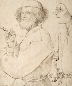 The Painter and the Buyer - 1565 - Presunto autoritratto di Pieter Bruegel