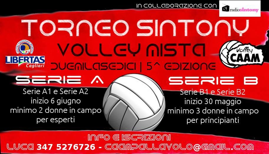 Quinta edizione del Torneo Sintony di pallavolo mista amatoriale a Cagliari: iscriviti subito