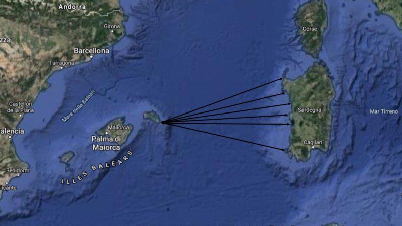 Carta di Navigare di Gerolamo Azurri #26: la traversata dalle Baleari alla Sardegna e viceversa nel portolano della metà del 1500
