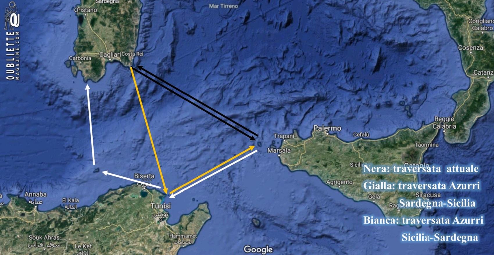 """""""Carta di Navigare"""" di Gerolamo Azurri #10: la traversata dalla Sardegna alla Sicilia nel portolano della metà del 1500"""