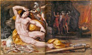 Ulisse acceca Polifemo - Pellegrino Tibaldi (1527-1596)