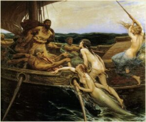 Ulisse e le sirene - Dipinto di Herbert James Draper - 1909