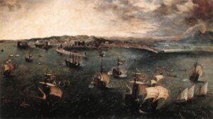 Veduta del porto di Napoli, 1556 - Pieter Bruegel