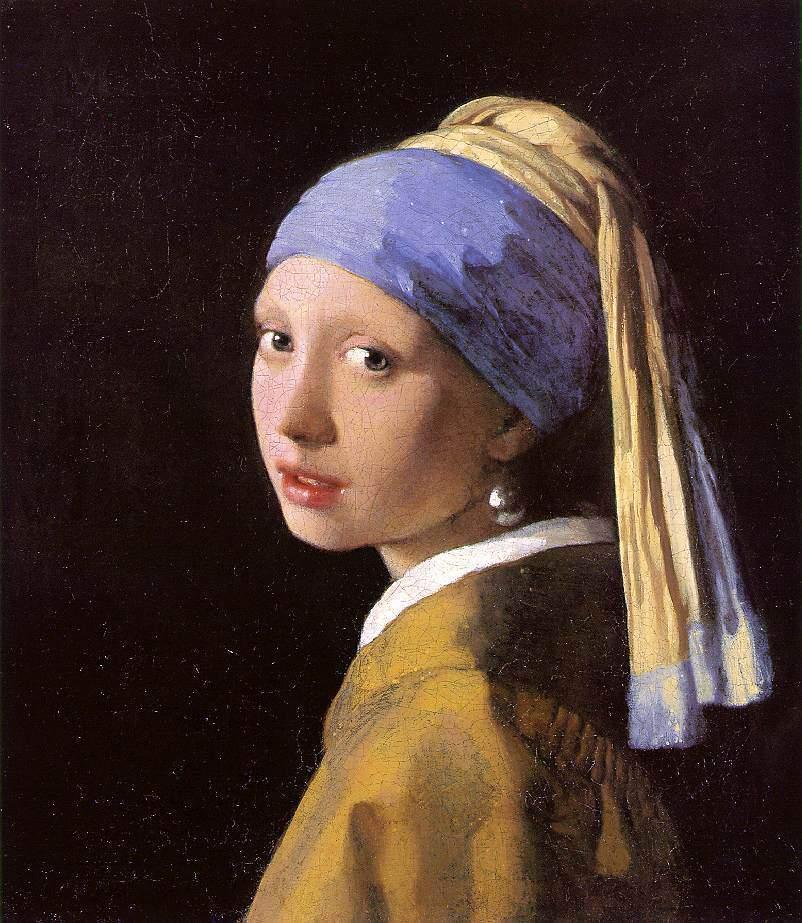 """""""La ragazza con l'orecchino di perla"""" di Vermeer in mostra al Golden Age della pittura olandese, 8 febbraio 2014, Bologna"""