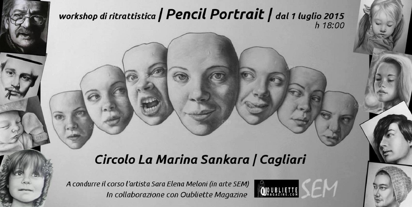 """""""Pencil Portrait"""": workshop di ritrattistica, dal 1 luglio, presso il Circolo La Marina Sankara, Cagliari"""