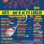 """XVIII edizione de """"Astimusica"""", dal 9 luglio con Cordepazze e Management del Dolore Post Operatorio, Asti"""